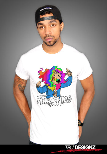 Tekashi69 6ix9ine Cartoon Rainbow T-Shirt