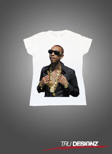 Tyga Gold Chains Graphic Womens T-Shirt