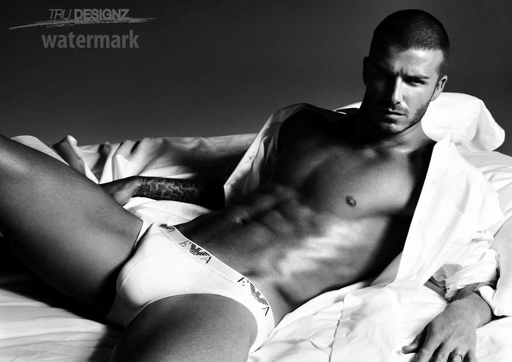 David Beckham Topless Poster