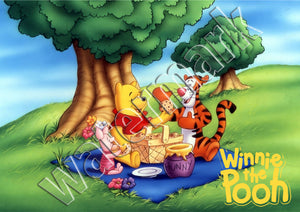 Winnie The Pooh, Tigger & Piglet Picnic Poster