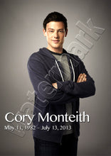 Cory Monteith RIP Rest In Peace Poster