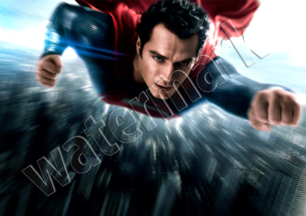 Man Of Steel Fightinig Justice Superman Poster