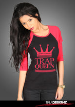 Fetty Wap Trap Queen Logo Women's Two Tone Baseball T-Shirt