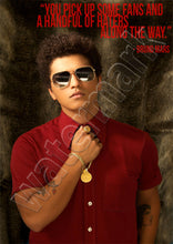 Bruno Mars Fans And Haters Quote Poster