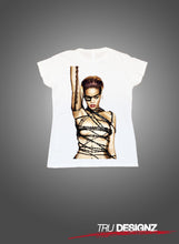 Rihanna Barbed Wire Graphic Womens T-Shirt