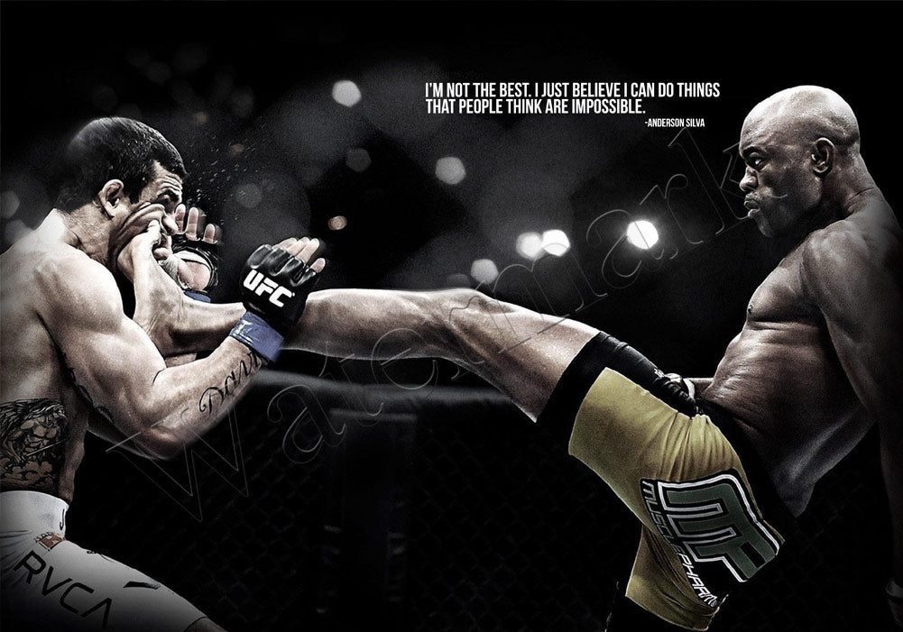 UFC 126 Silva vs Belfort The Impossible Poster