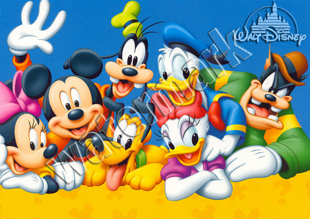 Disney Family Photo Cartoon Poster