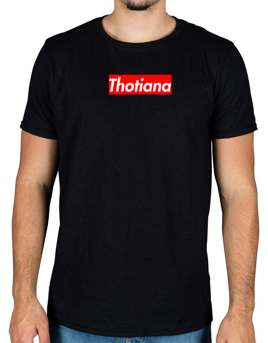 Blue Face Thotiana Red box logo T-Shirt