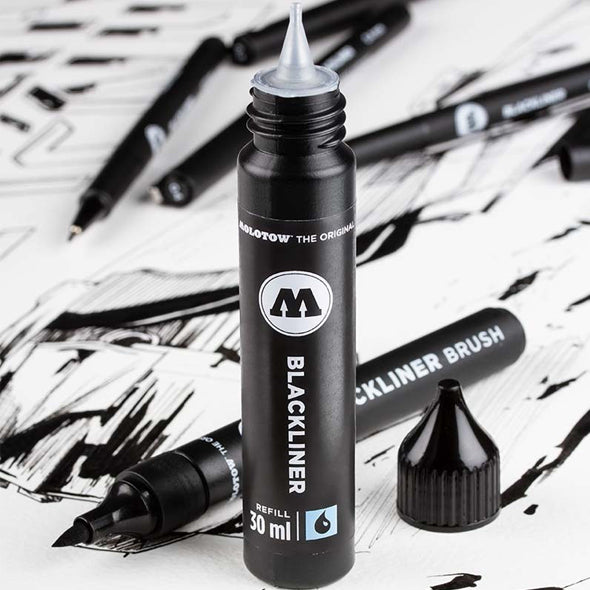 BLACKLINER BRUSH MARKER + REFILL