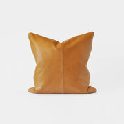 Bahru Leather Cushion in Caramel
