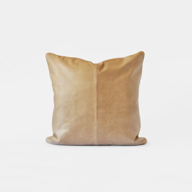 Bahru Leather Pillow in Bone