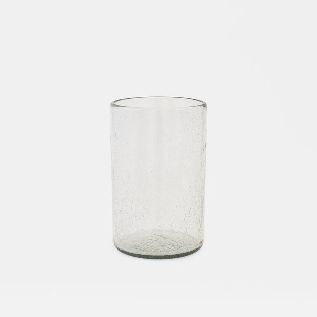 Medium Cracked Glass Vase