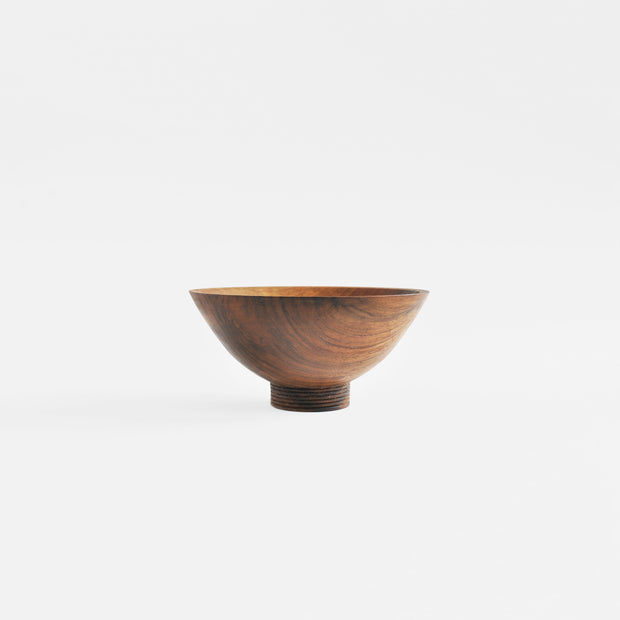 Ribbed Bowl Walnut