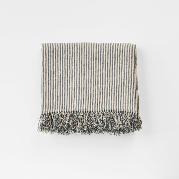 Striped Linen Blanket