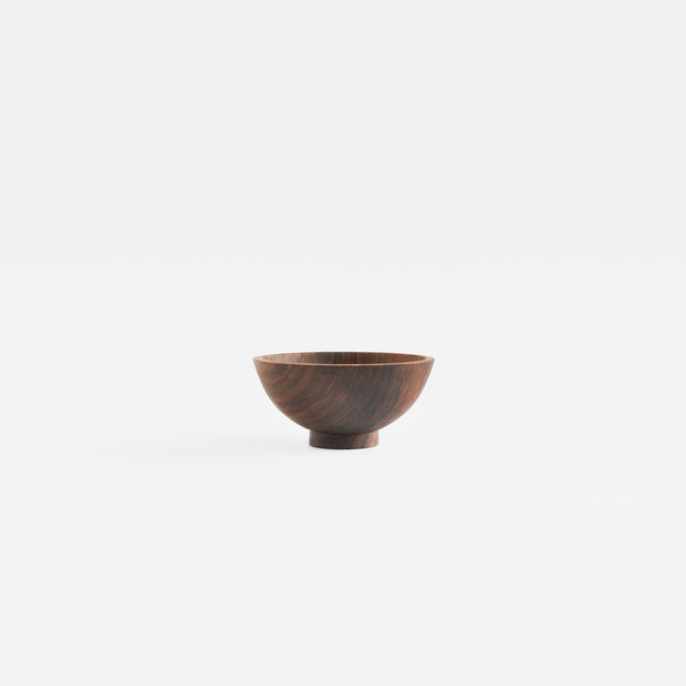 Small Round Bowl in Walnut