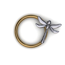 Load image into Gallery viewer, Dragonfly Daith Ring - easy twist in
