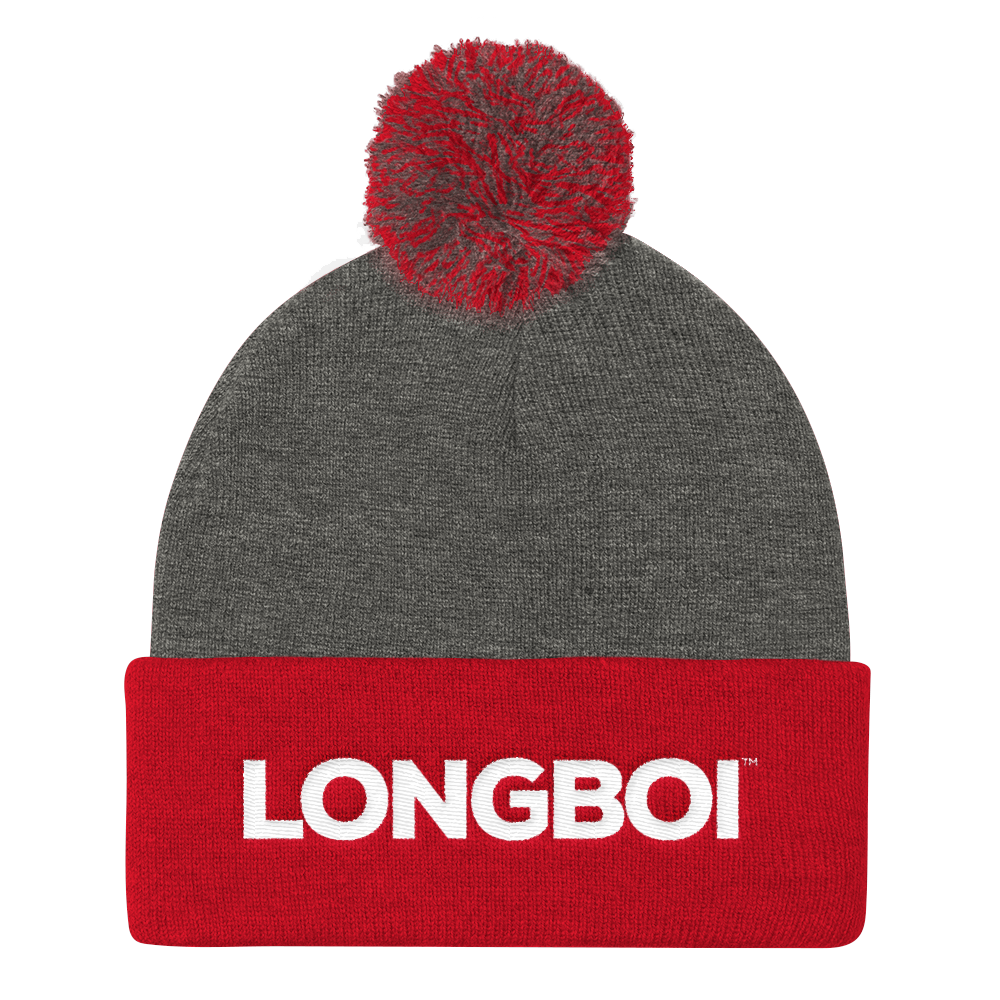 Pom Pom Long Boi Embroidered Classic Knit Cap – Long Boi Clothing ... 096795d5749