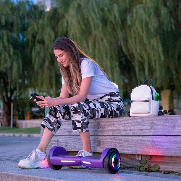 Sitting with the Strike Hoverboard