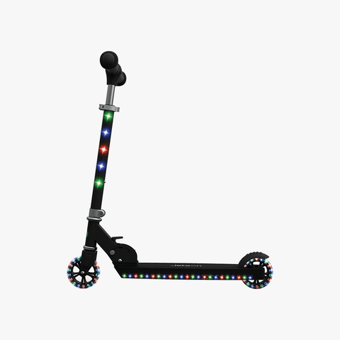 Jupiter Kick Scooter With LED Lights Black