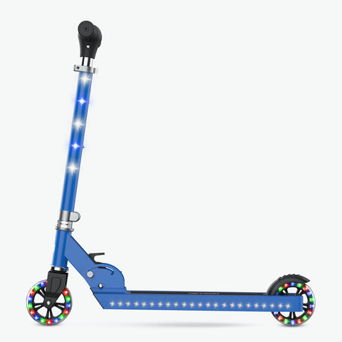 Jupiter Kick Scooter With LED Lights Blue