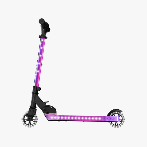 Jupiter Kick Scooter With LED Lights Iridescent