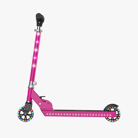 Jupiter Kick Scooter With LED Lights Pink