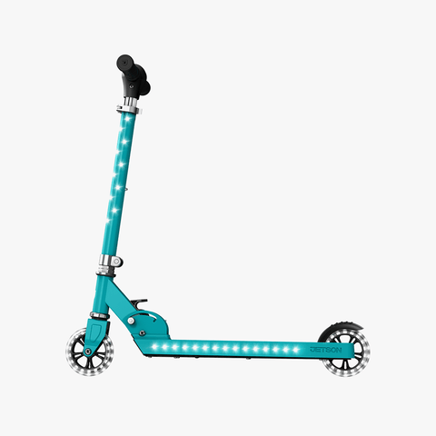 Jupiter Kick Scooter With LED Lights Teal