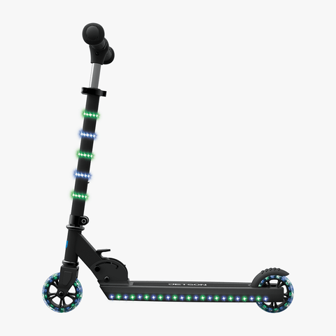 Orbit Light-Up Folding Kick Scooter Black/Blue
