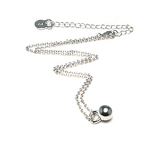 Tiny Kettlebell Necklace in Sterling Silver - Unbroken Designs - Canada