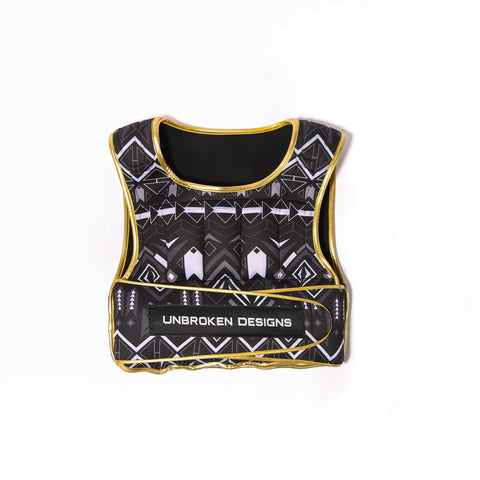 Metallic Gold Aztec 20lb Weight Vest - Unbroken Designs - Canada