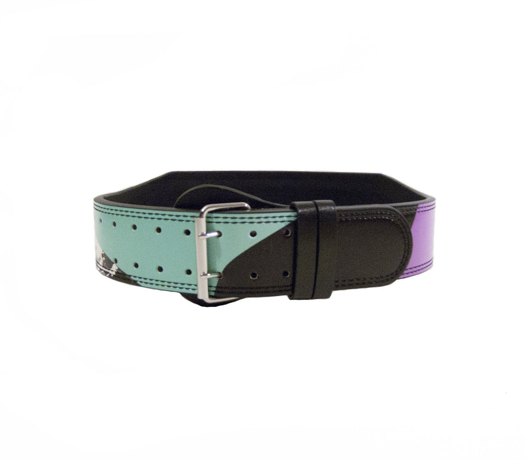 Block Party Leather Lifting Belt - Unbroken Designs - Canada