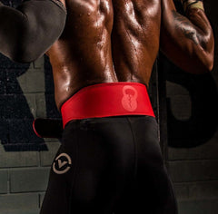 Matte Red Leather Lifting Belt - Unbroken Designs - Canada