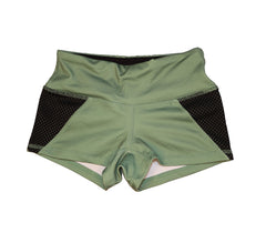 "GI Jane Shorts with Black Mesh | Shorts ""GI Jane"" avec Mailles Noires - Unbroken Designs - Canada"