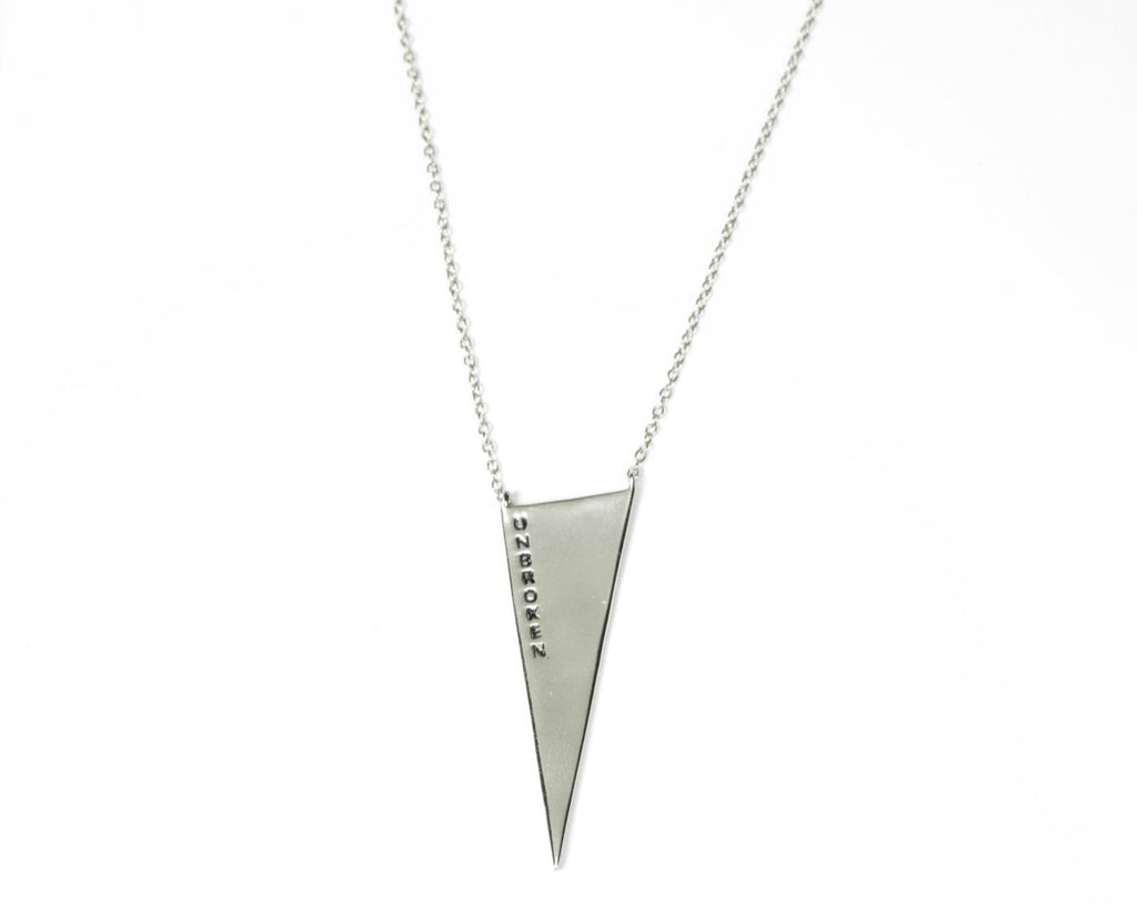 Unbroken Triangle Necklace in Sterling Silver - Unbroken Designs - Canada