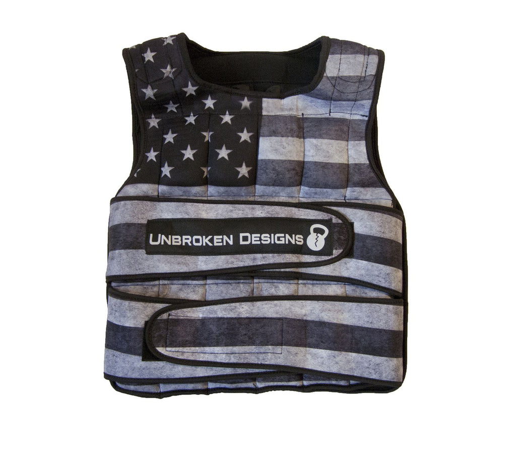 Stars and Stripes 18kg Weight Vest - Unbroken Designs - Canada
