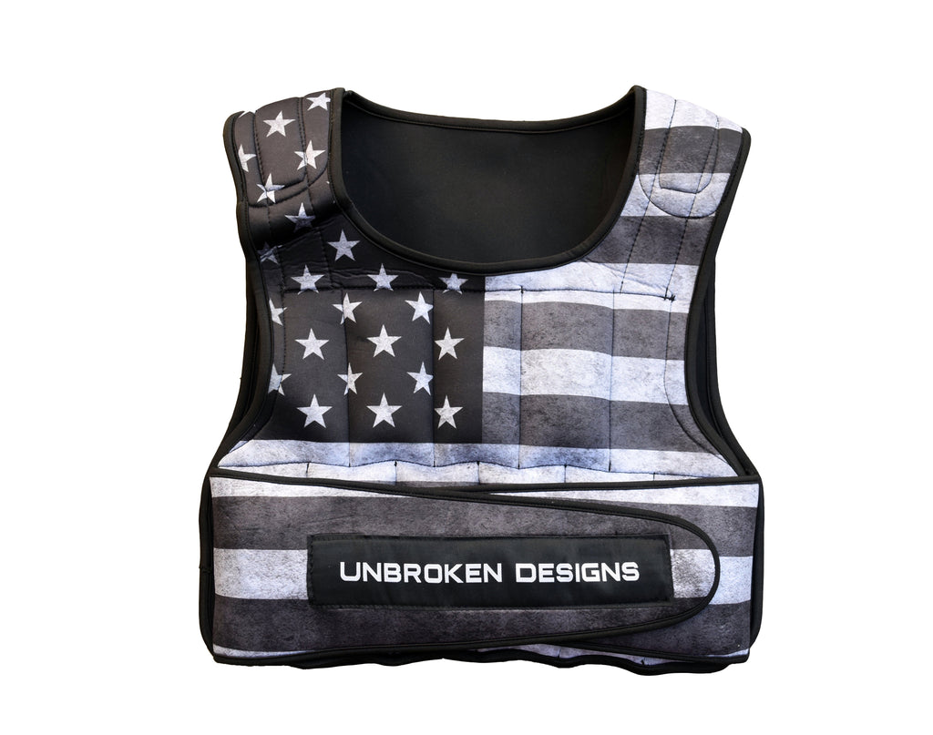 Stars and Stripes Cropped 9kg Weight Vest - Unbroken Designs - Canada