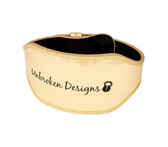 The Games Gold Leather Lifting Belt - Unbroken Designs - Canada