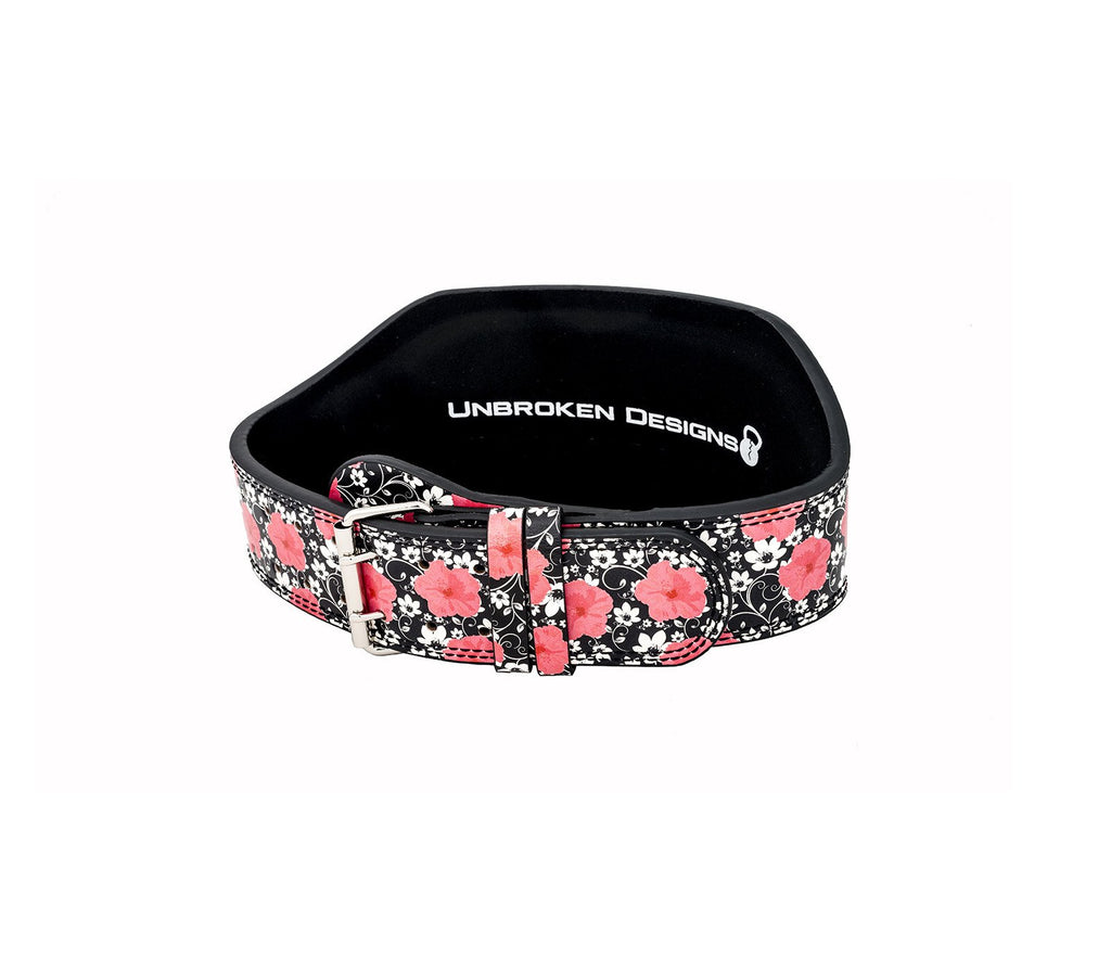Tropical Explosion Leather Lifting Belt - Unbroken Designs - Canada