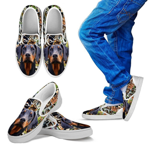 Amazing Doberman Pinscher Dog Print Slip Ons For Kids-Express Shipping