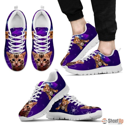 Lovely Bengal Cat Print Running Shoe For Men- Free Shipping