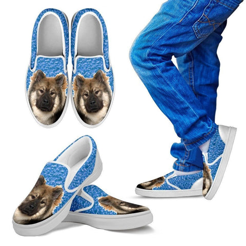 Eurasier Dog Print Slip Ons For Kids-Express Shipping