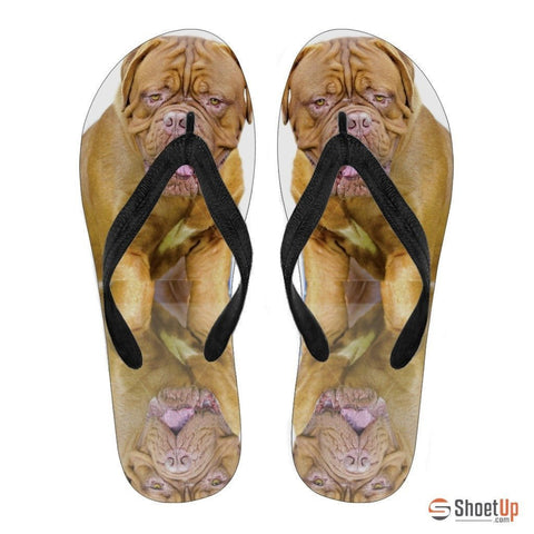 Neapolitan Mastiff Flip Flops For Women-Free Shipping