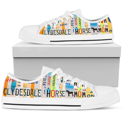 Women's Low Top Canvas Shoes ForClydesdale horse Mom