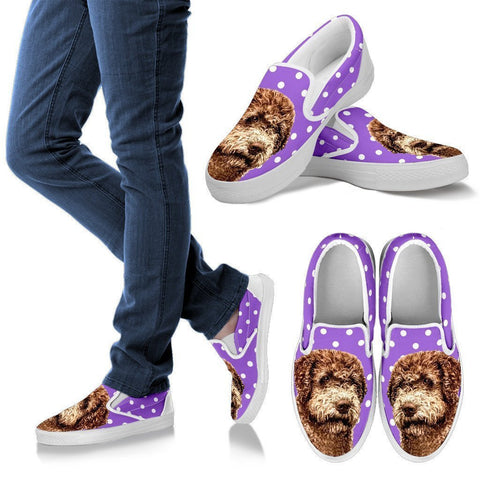 Lagotto Romagnolo Dog Print Slip Ons For Women-Express Shipping