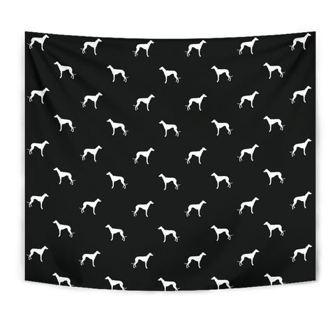 Whippet Dog Pattern Print Tapestry-Free Shipping