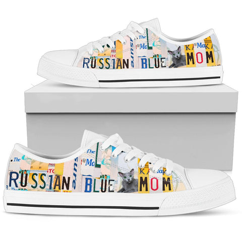 Women's Low Top Canvas Shoes For Russian Blue Mom