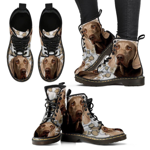 Weimaraner Print Boots For Women - Express Shipping