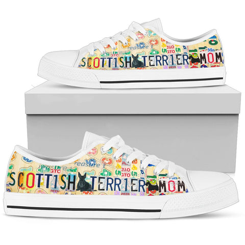 Scottish Terrier Mom Print Low Top Canvas Shoes for Women
