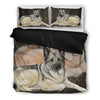 Amazing Norwegian Elkhound Print Bedding Set-Free Shipping