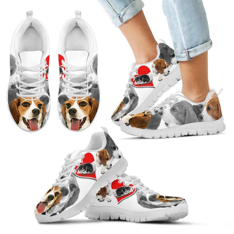 Beagle Dog Print Running Shoes For Kids- Free Shipping
